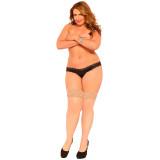 Seven til Midnight Thigh Highs Strømper Nude Plus Size