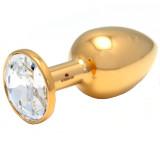 Rosebuds Gold Swarovski Cristal Butt Plug Medium