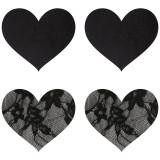 Peekaboos Nipple Stickers Hjerte Blonde 2 pak
