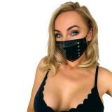 Noir Handmade Maske med Nitter