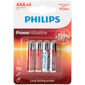 Philips LR03 AAA Alkaline Batterier 4 stk