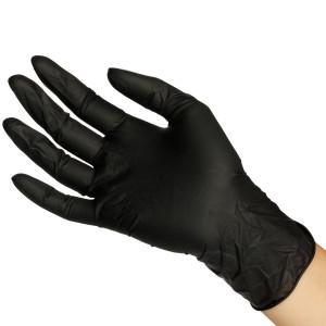 Sorte Latex Handsker 20 stk