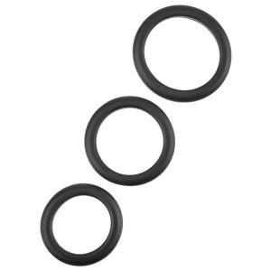 Penisringe Sæt Sort 3 stk