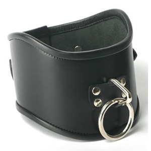 Strict Leather Locking Posture Collar Halsbånd