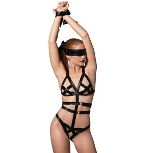Kink by Leg Avenue Teddy og Blindfold