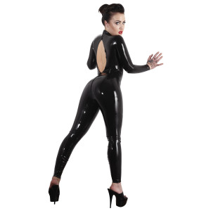 Late X Latex Catsuit med Åben Ryg