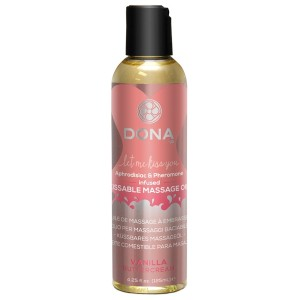 Dona Kissable Massageolie med Smag 125 ml