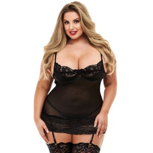 Baci Open Cup Chemise Plus Size