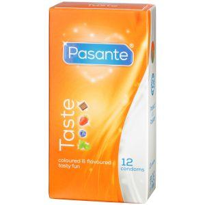 Pasante Taste Mixed Flavours Kondomer 12 stk