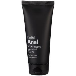 Sinful Anal Vandbaseret Glidecreme 100 ml