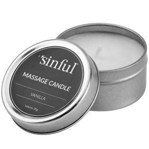 Sinful Vanilje Massagelys 30 g