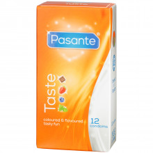 Pasante Taste Mixed Flavours Kondomer 12 stk  1