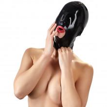 Late X Black Out Latex Maske  1