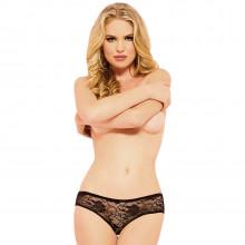 Seven til Midnight Bundløs Blonde Trusse Sort produkt på model 1