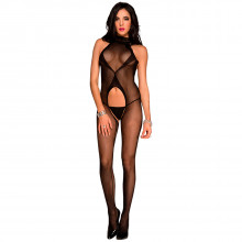 Music Legs Cut Out Bodystocking  1