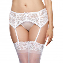 Dreamgirl Blonde Hofteholder Hvid Plus Size