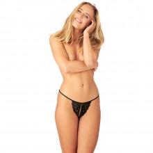 Nortie Saga Bundløs Blonde G-Streng produkt på model 1