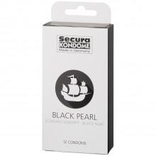 Secura Black Pearl Kondomer 12 stk billede af emballagen 90