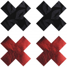 Peekaboos Nipple Stickers Kryds Rød 2 pak  1
