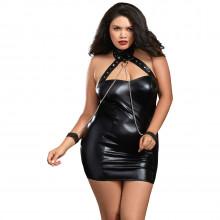 Dreamgirl Faux Læder Plus Size Chemise produkt på model 1