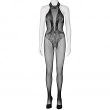 Sheer Fantasy Back To Black Lace Bodystocking med Udsmykning Produktbillede 1