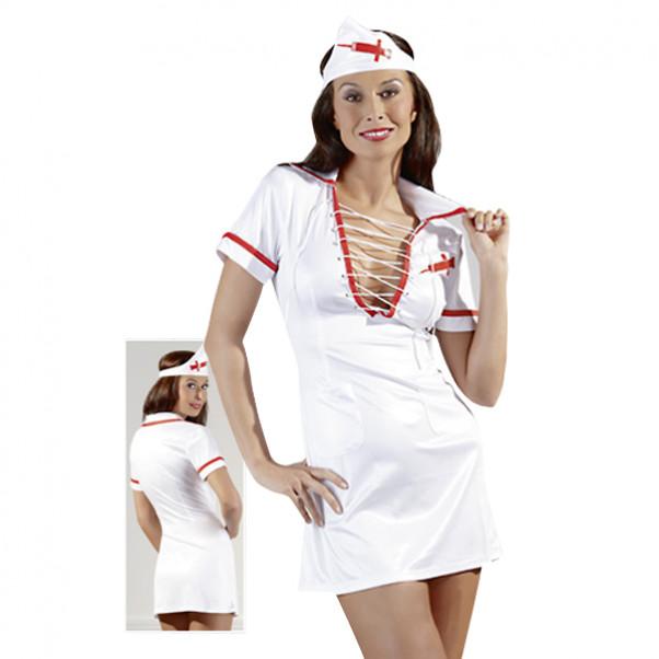 Cottelli Sygeplejerske Kostume med Snørre  2