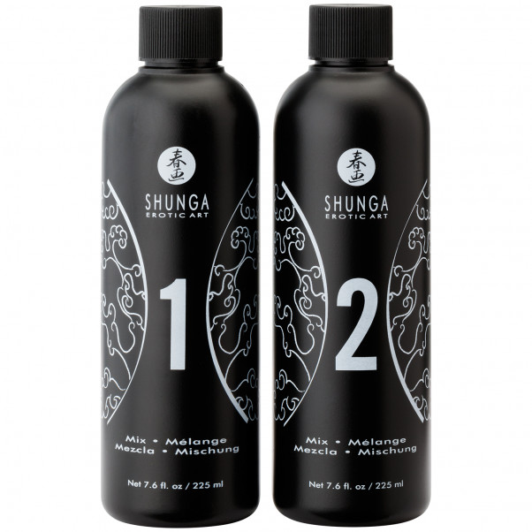 Shunga Body Slide Massage Gel Sæt 2 x 225 ml  3