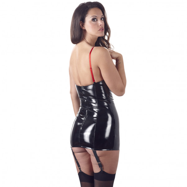 Black Level Lak kjole med Strømpeholder  2