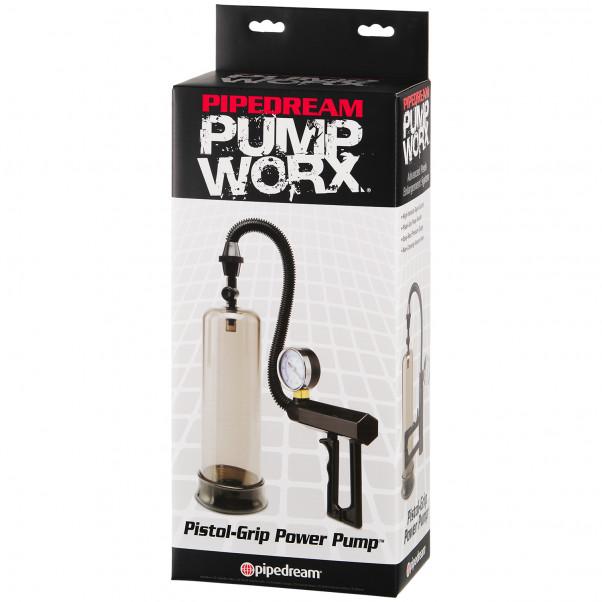 Pump Worx Pistol Grip Penispumpe med Trykmåler billede af emballagen 90