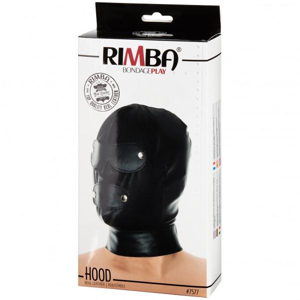 Rimba Justerbar Læder Maske billede af emballagen 90