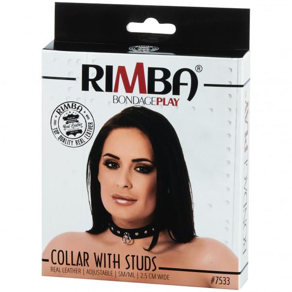 Rimba Justerbart Læder Halsbånd  billede af emballagen 90