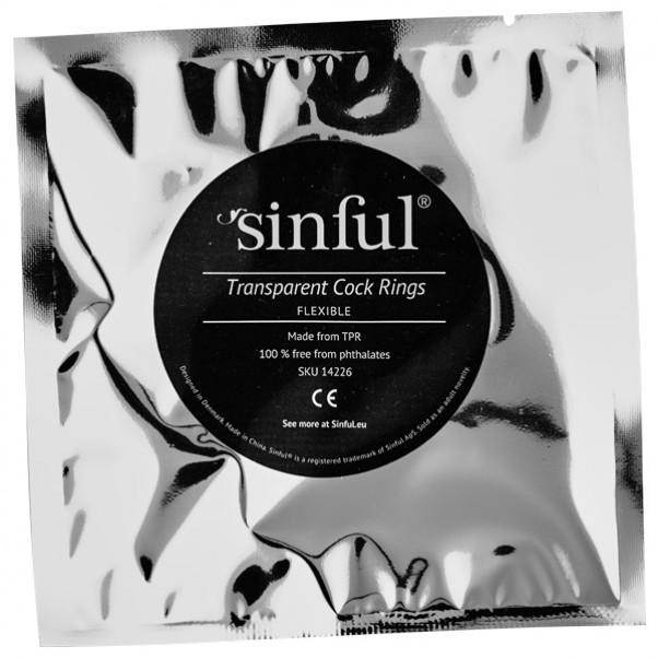 Sinful Transparente Penisringe 3 stk