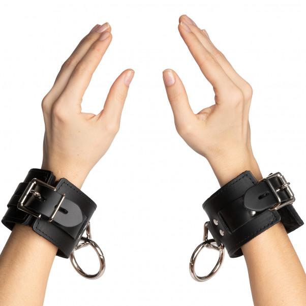 Spartacus Låsbare Læder Manchetter til Håndled  4