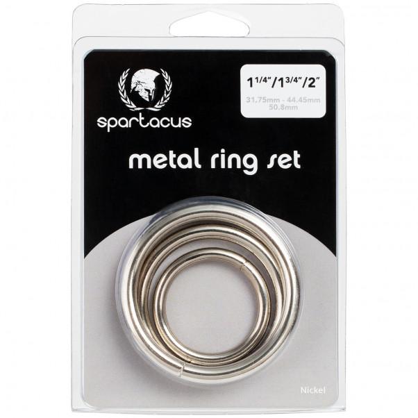 Spartacus Metal Penisringe 3 stk billede af emballagen 90