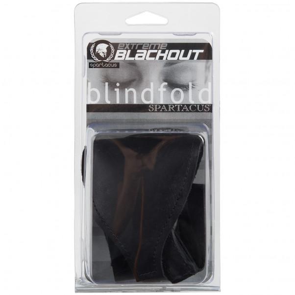 Spartacus Læder Blackout Blindfold billede af emballagen 90