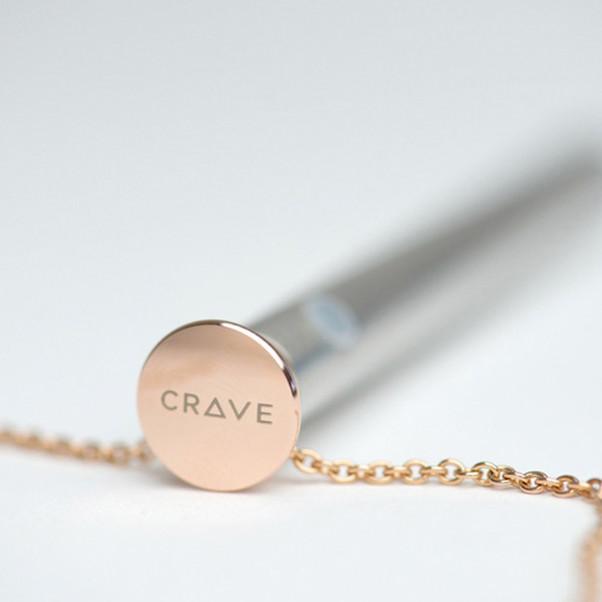 Crave Vesper Halskæde med Vibrator Rosaguld  3