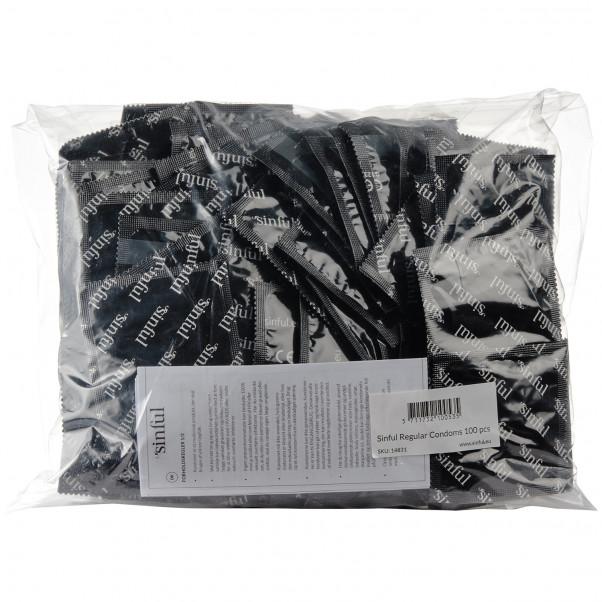 Sinful Regular Kondomer 100 stk billede af emballagen 90
