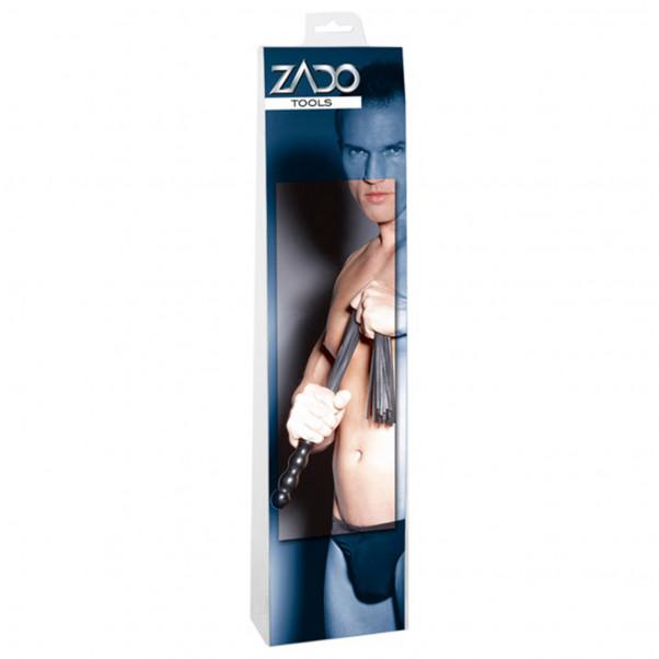 Zado Læder Pisk med Træhåndtag 56 cm  3