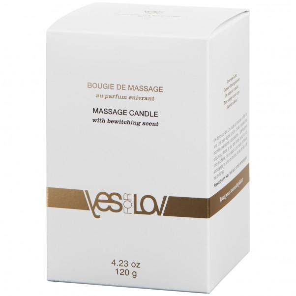 YESforLOV Massagelys 120 g billede af emballagen 90
