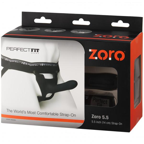 Perfect Fit Zoro Strap-On Harness med Dildo Sort billede af emballagen 90