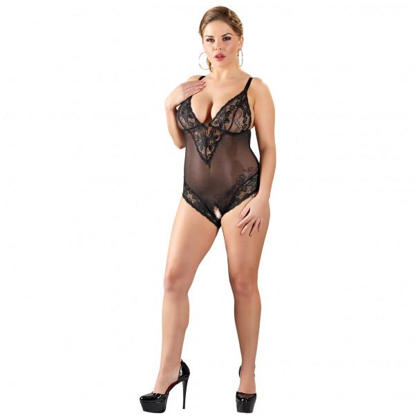 Cottelli Bundløs Blonde Bodystocking Plus Size  1