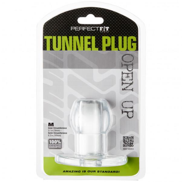 Perfect Fit Tunnel Buttplug Medium Clear billede af emballagen 90