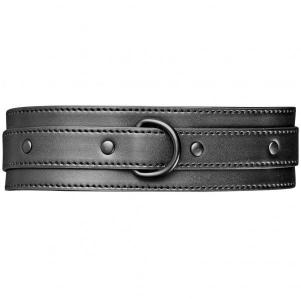 Obaie Imiteret Læder Halsbånd med D-Ring Front