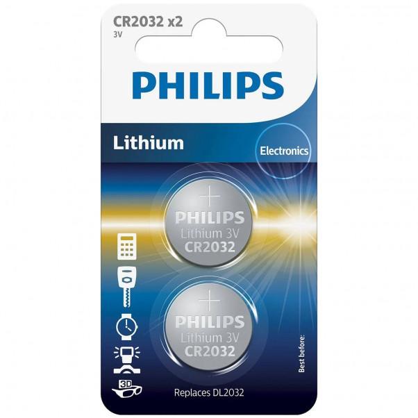 Philips CR2032 Alkaline Batteri 2 stk produktbillede 1