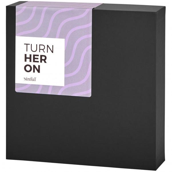 Sinful Turn Her On Sexlegetøj Boks med A-Z Guide Vinkel
