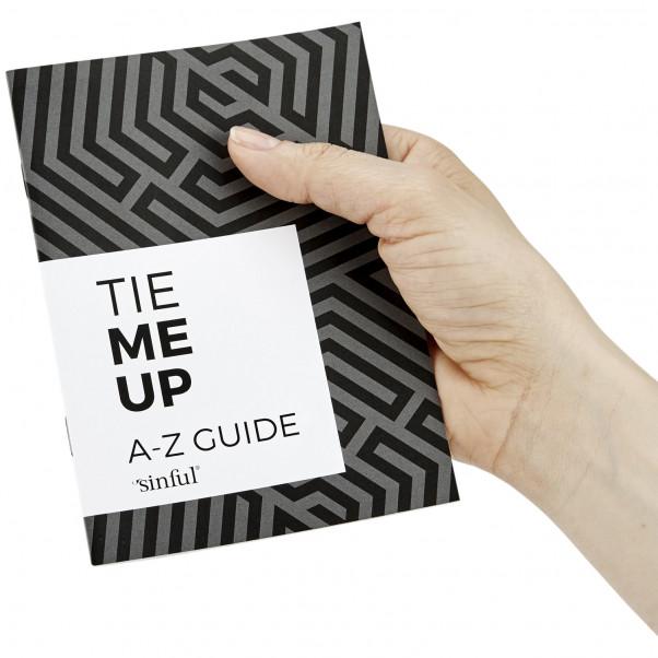 Sinful Tie Me Up Sexlegetøj Boks med A-Z Guide Forside