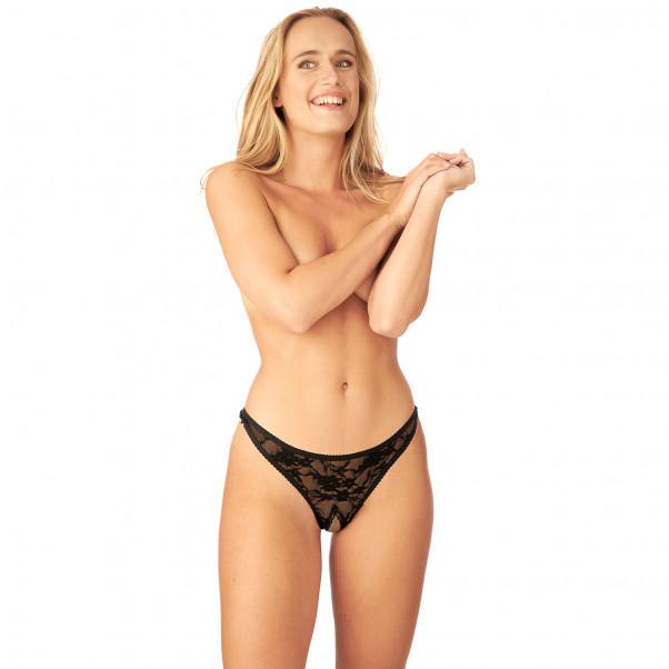 Nortie Siv Bundløs Blonde G-Streng produkt på model 1