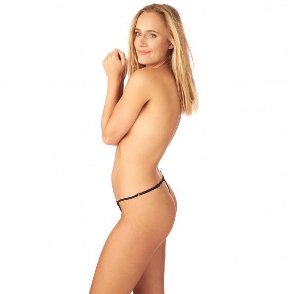 Nortie Saga Bundløs Blonde G-Streng produkt på model 2