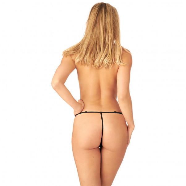 Nortie Saga Bundløs Blonde G-Streng produkt på model 3