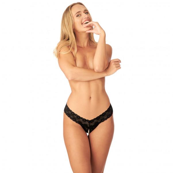 Nortie Malin Bundløs Orgasme Perle G-Streng produkt på model 1